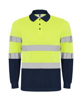 Polo haute visibilité manches longues POLARIS L/S marine/jaune fluo