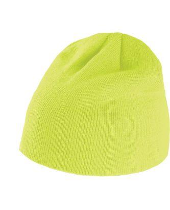 Bonnet tricoté KP513 - Fluorescent Yellow
