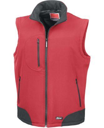 Bodywarmer softshell R123 - Red / Black