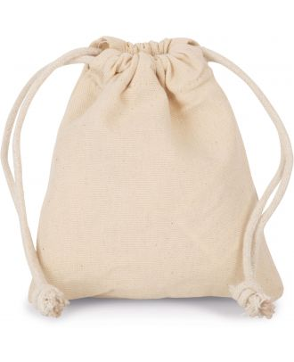 Sac coton à cordon 13 x 15 cm KI0748 - Natural