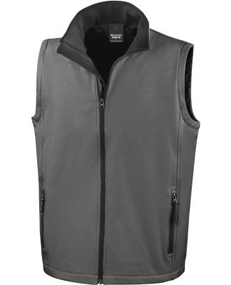 Bodywarmer Softshell Homme Printable - Charcoal / Black