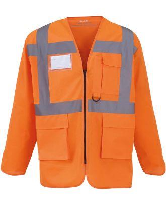 Gilet haute visibilité à manches longues YHVJ800 - Hi Vis Orange