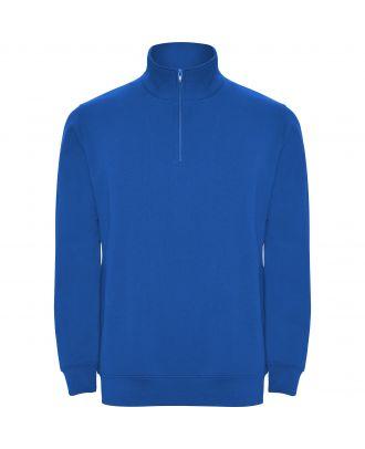Sweat-shirt homme demi zip ANETO bleu royal