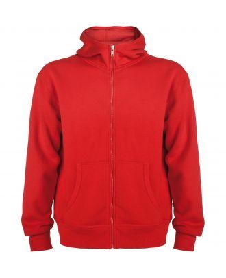 Sweat-shirt capuche avec fermeture éclair MONTBLANC rouge