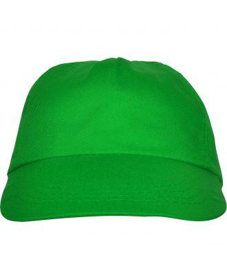 Casquette 5 panneaux BASICA vert fougère