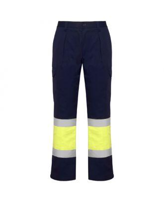 Pantalon haute visibilité multipoches d´hiver SOAN marine/jaune fluo
