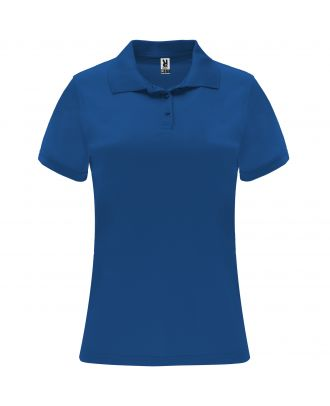 Polo manches courtes MONZHA WOMAN bleu royal