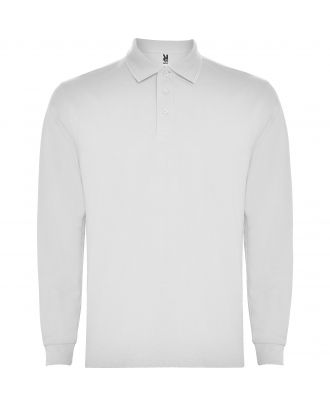 Polo homme manches longues CARPE BLANC