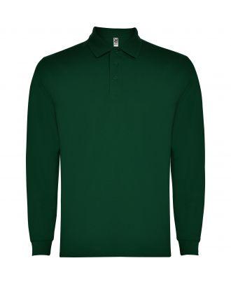 Polo homme manches longues CARPE VERT BOUTEILLE