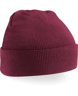 Bonnet original à revers B45 - Burgundy-One Size