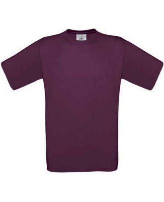 T-shirt enfant manches courtes exact 150 CG149 - Burgundy
