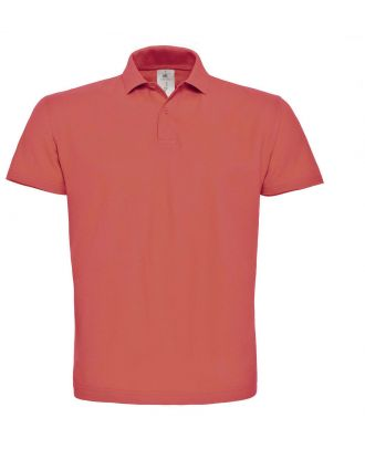 Polo homme manches courtes ID.001 PUI10 - Pixel Coral
