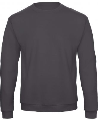Sweatshirt col rond ID.202 WUI23 - Anthracite de face