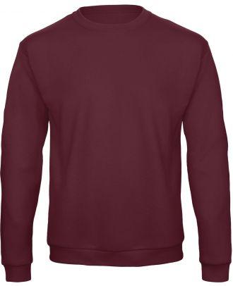 Sweatshirt col rond ID.202 WUI23 - Burgundy de face