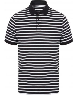 Polo jersey à rayures FR230 - Navy / White
