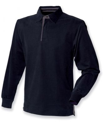 Polo rugby manches longues FR43 - Black
