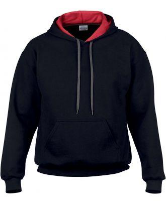 Sweat-shirt homme à capuche zippé 185C00 - Black / Red