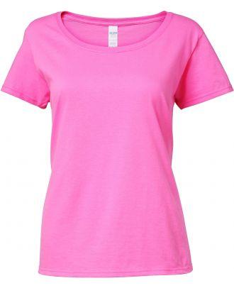 T-shirt femme Softstyle® Deep Scoop 64550L - Azalea