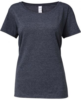 T-shirt femme Softstyle® Deep Scoop 64550L - Dark Heather