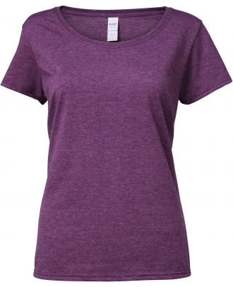 T-shirt femme Softstyle® Deep Scoop 64550L - Heather Aubergine
