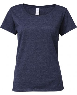 T-shirt femme Softstyle® Deep Scoop 64550L - Heather Navy