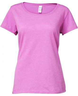 T-shirt femme Softstyle® Deep Scoop 64550L - Heather Radiant Orchid