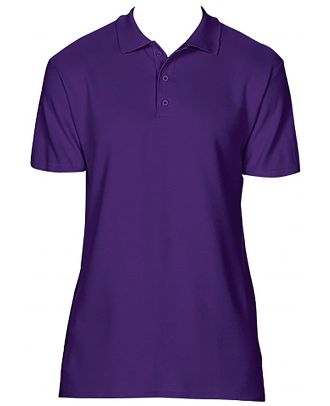 Polo homme Softstyle double piqué GI64800 - Purple