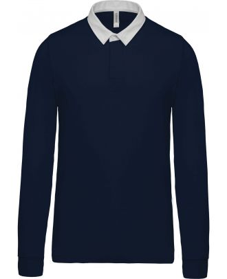 Polo rugby K213 - Navy / White