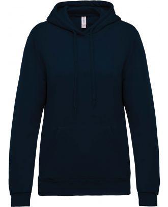 Sweat-shirt femme à capuche K473 - Navy