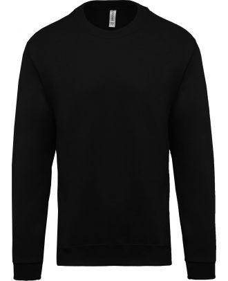 Sweat-shirt unisexe col rond K474 - Black