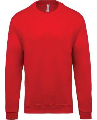 Sweat-shirt unisexe col rond K474 - Red