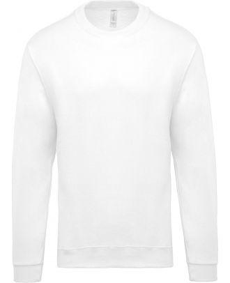 Sweat-shirt unisexe col rond K474 - White