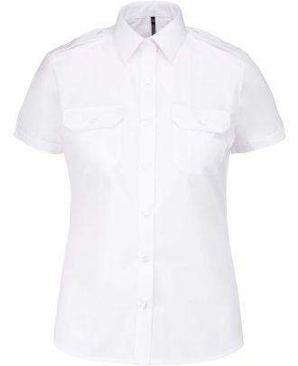 Chemise manches courtes femme pilote K504 - White