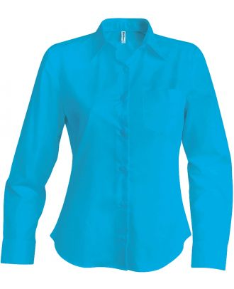 Chemise manches longues femme Jessica K549 - Bright Turquoise