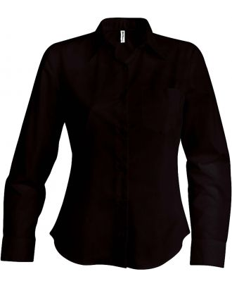 Chemise manches longues femme Jessica K549 - Brown