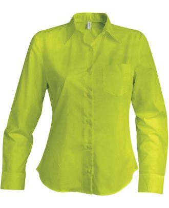 Chemise manches longues femme Jessica K549 - Burnt Lime