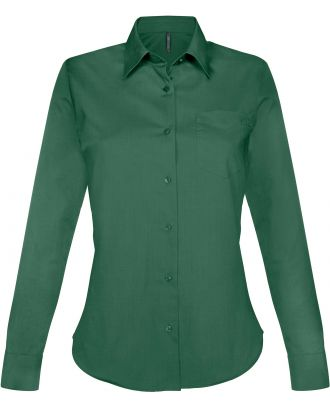 Chemise manches longues femme Jessica K549 - Forest Green