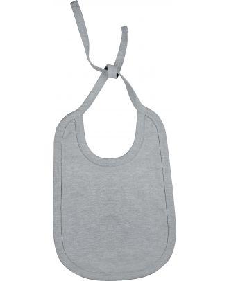 Bavoir bébé coton K832 - Oxford Grey