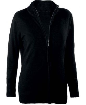Cardigan femme zippé K962 - Black