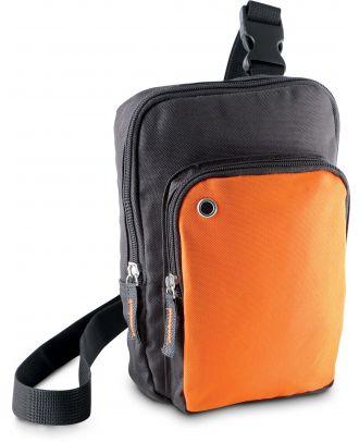 Sac bandoulière KI0301 - Dark Grey / Orange