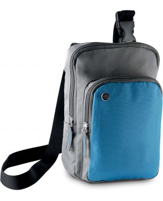 Sac bandoulière KI0301- Slate Grey / Aqua Blue