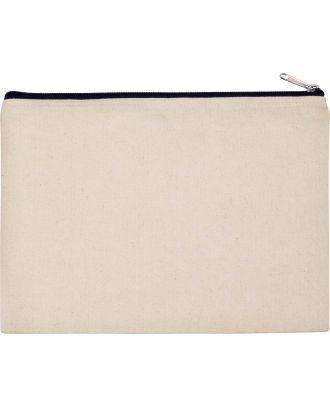 Pochette en coton canvas personnalisable KI0722 - Natural / Black