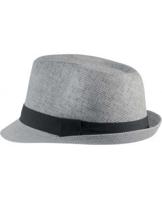 Chapeau en fibre végétale KP608 - Light Grey / Black