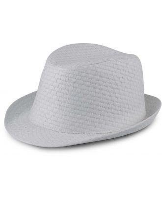 Chapeau de paille style Panama rétro KP612 - White