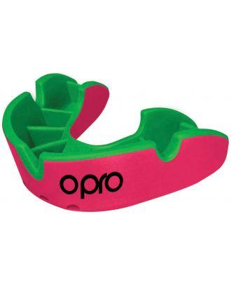 Protège dents silver junior OP600 - Pink / Fluoro Green