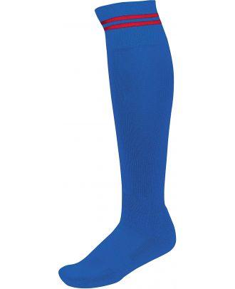 Chaussettes de sport rayées PA015 - Dark royal Blue / Sporty Red