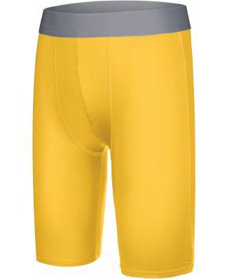 Sous-short long enfant sport PA008 - Sporty Yellow