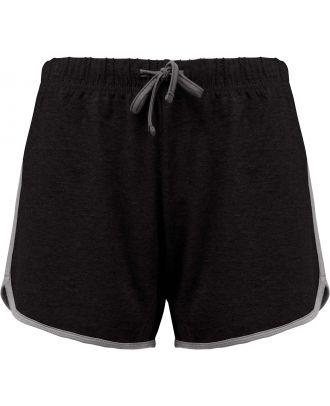 Short de sport femme PA1021 - Black / Grey Heather