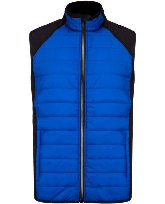 Veste sport sans manches bi-matière PA235 - Dark royal Blue / Black