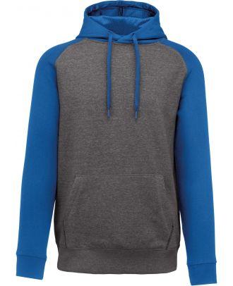Sweat-shirt enfant bicolore capuche PA370 - Grey Heather / Sporty Royal Blue